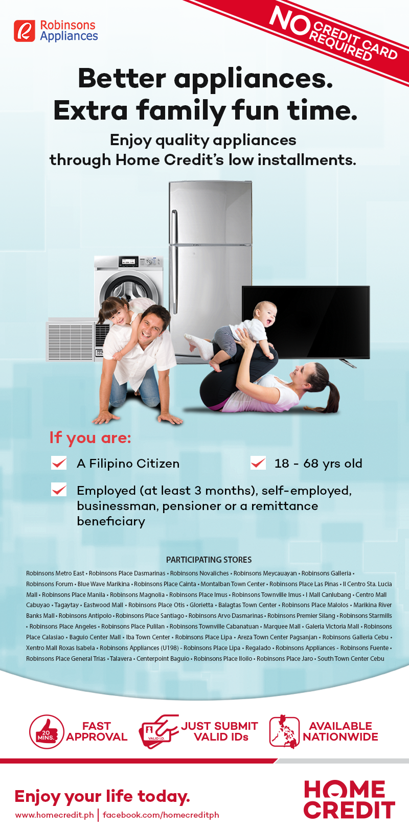 Robinsons Appliances Home Credit